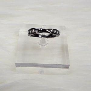 Jewelry - 14k Black Gold Plated Zircon Ring